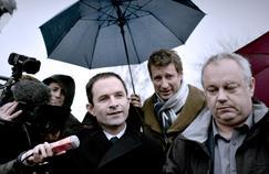 Benoît Hamon et Yannick Jadot en déplacement en Bretagne mercredi 1er mars.