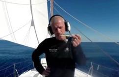 Sebastien Destremau sur son navire