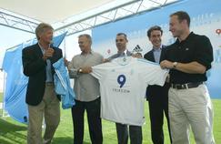 Présentation du maillot de l'OM en 2003