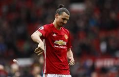 Zlatan Ibrahimovic lors de Manchester United - Bournemouth