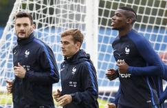De gauche à droite, Hugo Lloris, Antoine Griezmann et Paul Pogba.
