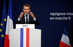 Emmanuel Macron en réunion publique à Reims, le 17 mars.