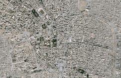Image satellite de Raqqa, en Syrie, en mars 2017.