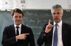 D'étiquette sarkozyste, François Baroin (à gauche) est de sensibilité centriste. L'électorat plus marqué à droite se reconnaît davantage dans le discours de Laurent Wauquiez (à droite).