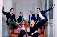 Six lauréats du palmarès de l'Institut Choiseul, réunis dans les locaux du Figaro Magazine: Ning Li, Maud Bailly, Alice Zagury, Jérôme Batout, Christelle Grisoni, Benjamin Frémaux.