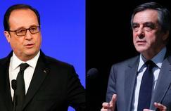 François Hollande et François Fillon.