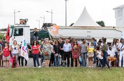 Manifestants guyanais le 27 mars à Cayenne.