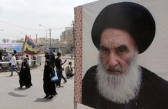 Une affiche du leader spirituel chiite irakien, Ali al-Sistani, à Bagdad. La tension sunnite-chiite est au cœur du conflit en Irak, dans une région pourtant auparavant marquée par sa tolérance interconfessionnelle.