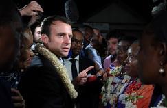 Emmanuel Macron à Mayotte, dimanche.