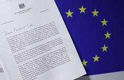 La lettre de la première ministre britannique Theresa May déclenchant le Brexit, adressée mercredi à Donald Tusk, le président du Conseil européen.
