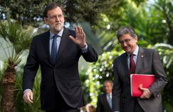 Le premier ministre espagnol, Mariano Rajoy (à gauche), mardi 28 mars.