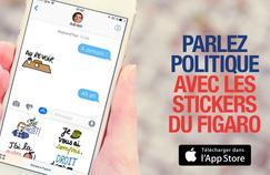 Envoyez à vos amis les phrases cultes de la politique avec les stickers du Figaro