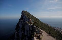 Le rocher de Gibraltar, à Gibraltar, territoire britannique d'outre mer.