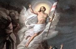 La Résurrection du Christ (détail), illustration d'après Benvenuti.