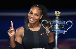 Serena Williams après la conquête de son 23e titre en Grand Chelem, en janvier dernier, à Melbourne