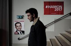 Un militant socialiste dépité après la défaite de Benoît Hamon au premier tour de la présidentielle.
