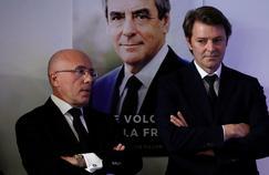 Le député Éric Ciotti et l'ancien ministre François Baroin au QG de François Fillon