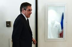 François Fillon, lundi, au siège des Républicains où se tenait un bureau politique