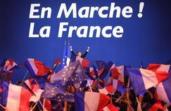Emmanuel Macron à la Porte de Versailles, le 23 avril 2017.