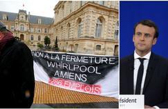 «Ce à quoi je veillerai personnellement, si je suis élu président de la République, c'est qu'il y ait bien un repreneur du site d'Amiens», a déclaré le candidat.