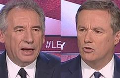 François Bayrou et Nicolas Dupont-Aignan, dimanche, invités du Grand Jury RTL-LCI-Le Figaro