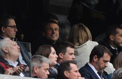 Emmanuel Macron au stade Vélodrome pour OM-Dijon le 1er avril dernier