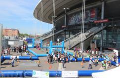 De nombreux ateliers étaient mis en place sur le parvis du Stade de France pour cette journée Evasion