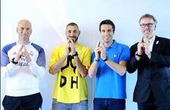 Zinédine Zidane, Karim Benzema, Tony Estanguet et Laurent Blanc réunis pour Paris 2024.