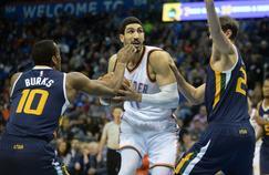 Enes Kanter avec le Thunder face aux Utah Jazz le 11 mars dernier.