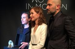 Isabelle Huppert, lors de la remise du prix Women in Motion.