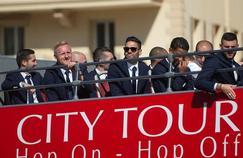 Les joueurs monégasques ont discrètement défilé dans les rues de la ville princière dimanche.