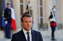 Emmanuel Macron (ici dimanche, à l'Élysée) a indiqué pendant la campagne présidentielle ce qu'il ferait une fois aux commandes: une «loi El Khomri puissance 10».
