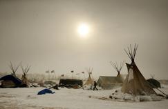Le campement des manifestants à Standing Rock, en décembre 2016.