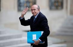 Gérard Collomb, à son arrivée mardi au Palais de l'Élysée.
