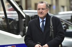 Richard Ferrand, ministre de la Cohésion des territoires, le 8 mai, à sa sortie du QG d'En Marche!, à Paris.