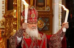 Le patriarche Kirill, le 16 avril 2017 dans la cathédrale de Moscou.