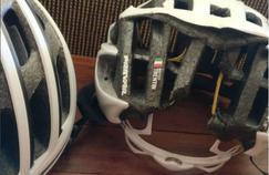 Le cliché du casque de Matteo Trentin. Crédit source: capture d'écran photo instagram