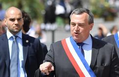 Olivier Carré à Orléans le 8 mai 2016, lors de la visite d'Emmanuel Macron.