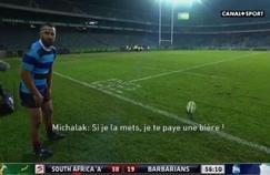 Le pari de Frédéric Michalak en plein match
