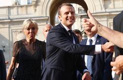 Brigitte et Emmanuel Macron le 21 juin dernier à Paris.