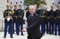 François de Rugy à l'Elysée à l'occasion de la cérémonie de passation des pouvoirs, le 14 mai 2017.