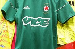 Le maillot du Red Star avec le logo du magazine VICE.