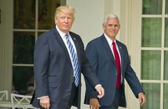 Donald Trump et son vice-président, Mike Pence, à la Maison Blanche, le 4 mai 2017.
