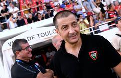 Mourad Boujellal, le président du RC Toulon en août dernier lors de la réception de Pau.