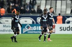 Les Bordelais dépités après la défaite à domicile contre Montpellier (0-2) le 20 décembre 2017