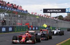Les Formule 1 au départ du Grand Prix d'Australie 2017.