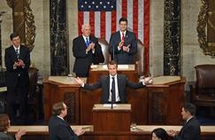 Amical mais critique, Macron séduit le Congrès américain