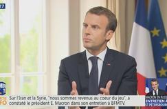 Macron sur les manifestations: «Aucun désordre ne m'arrêtera, le calme reviendra»
