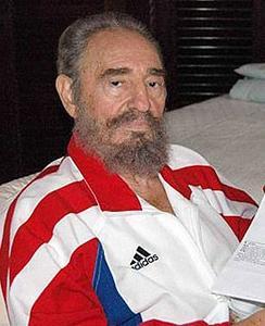 Fidel Castro en survêtement Adidas