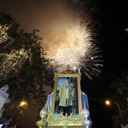 Célébrations de l'accès au trône de Rama IX à Bangkok en 2010.